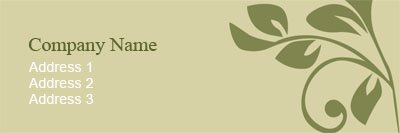 Beige and Green Vines Address Label Template